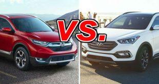 Honda CR-V và Hyundai SantaFe